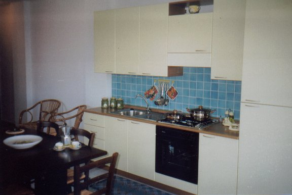 THe kitchen in our self catering apartments
